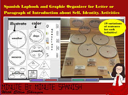 spanish 1 lapbook for writing first paragraph