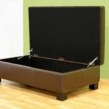 leather storage ottoman dark brown 6439751 hsn