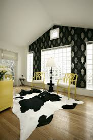 Black And White Modern Rug by 30 Black And White Home Offices That Leave You Spellbound