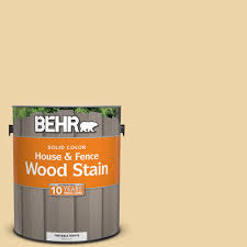 behr 1 gal sc 133 yellow cream solid color house and fence wood