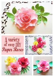 paper roses in a bed of paper roses how to make easy diy paper roses abbi