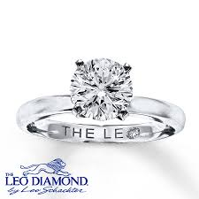 artisan engagement rings leo artisan ring 1 1 2 carats 14k white gold