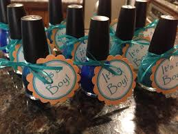 baby shower favors shades of blue nail polish for a boy the