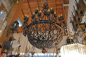 Gothic Chandelier Wrought Iron Exceptional And Very Rare Imposing 1920 Wrought Iron Chandelier At