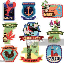 North Carolina travel stickers images Travel stickers east coast usa vector art getty images