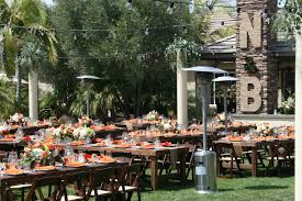 outdoor patio heater rental 8 u0027 feast tables allie u0027s party rental