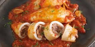 comment cuisiner le calamar calamars farcis à la viande facile et pas cher recette sur