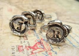 wax seal jewelry wax seal jewelry wax seal monogram ring reclaimed silver