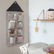 panier ferm living ferm living accueil sac de rangement gris textile 50x98cm