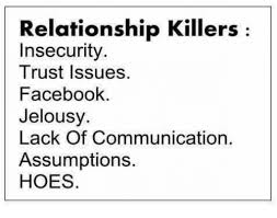 Relationship Memes Facebook - relationship killers insecurity trust issues facebook jelousy lack