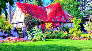 flower house flowers house decorative wallpaper dreamlovewallpapers