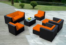 Patio Furniture Covers Sunbrella - collection 9pc sunbrella outdoor sectional sofa set
