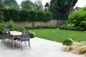 backyard apartment landscape transitional with soccer field
