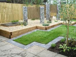 backyard mesmerizing green square rustic grass small design ideas