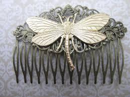 vintage hair combs dragonfly hair comb woodland wedding vintage hair combs bridal