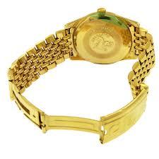 gold omega bracelet images 18k gold omega seamaster bracelet wristwatch aaron faber jpg