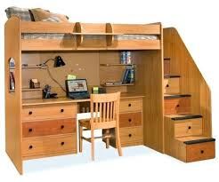 desk free full size loft bed with desk plans full size wood loft