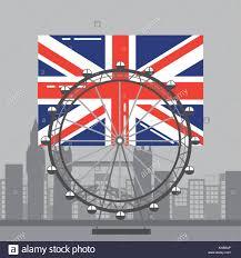 London Flag Photos London Flag British Ferris Wheel Recreation Landmark And Buildings