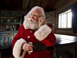 11 free murder mystery games for your dinner or party a picture of santa making a phone call