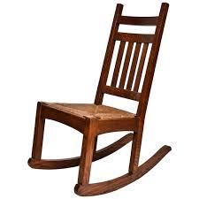 Nursing Rocking Chair Michigan Chair Company Mission Oak Rocker With Original Rush Seat