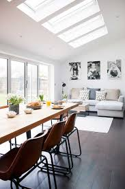 Ideas For Kitchen Extensions Industrial Kitchen Extension Dining Living Rooflights With Sofa