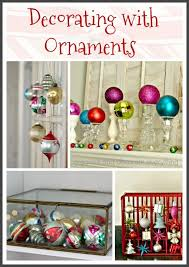 decorating with ornaments for
