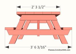 kids picnic table plans children s picnic table plans construct101