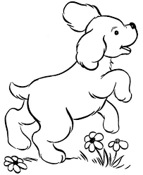 dog and puppy coloring pages puppy cute dog play in the park coloring page jpg
