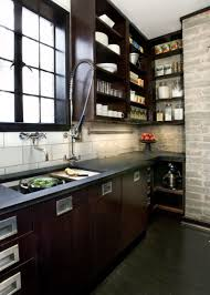 housetohomecouk industrial style kitchen with exposed brickwork