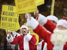 Santa Claus Parade In Central Tokyo Photos And Images Getty Images by Santa Protesters Say Walmart Is A Grinch