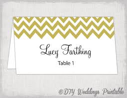 Table Card Template by Gold Place Card Template