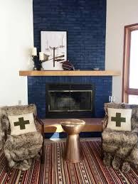 blue painted brick fireplace wpyninfo