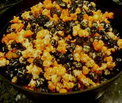 popcorn for halloween orange u0026 black popcorn mix recipe desserts