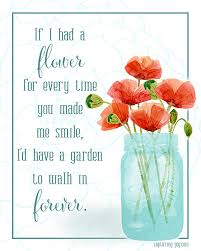 flowers for my flower in my garden free printable free and cards