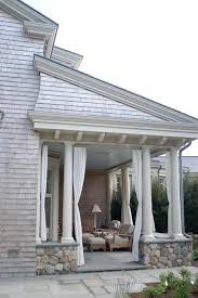 sunbrella curtains porch beach with back porch columns covered