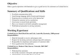 resume templates for waitress bartenders bash videos infantiles resume exle restaurant server sle cv 10 with sles for