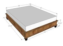 house queen size platform storage bed plans from sawdust