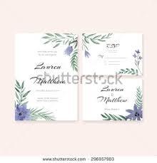 unique gentle vector wedding cards template stock vector 296957873
