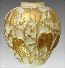 Lalique Vase With Birds Czech And American Copies Of Rene Lalique U0027s