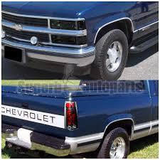 1998 chevy silverado tail lights 1994 1998 chevy c k silverado smoke headlights bumper corner black