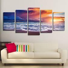 splendid canvas wall art paintings heaven at sunset multi