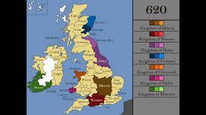 Map Of Britian Map Of Britain And Ireland In 620 Ad 1366x768 Mapporn