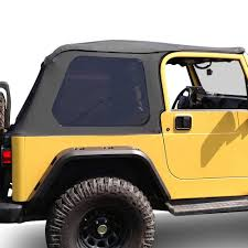 jeep frameless soft top rugged ridge 13790 35 montana black diamond bowless soft top