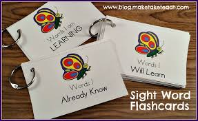 words cards teaching sight words make take teach