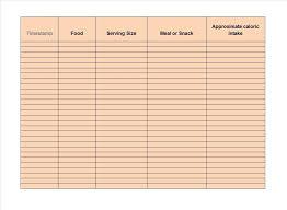 printable daily food intake journal 40 simple food diary templates food log exles