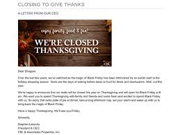 laurel park place will be closed on thanksgiving day reopen on
