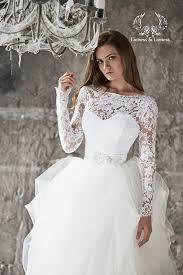 robe de mari e dentelle manche longue personnalisé deux pièces robes de mariée amovible manches longues