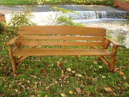 Rustic Oak Bench Memorial Benches Rustic Oak Bench 2200