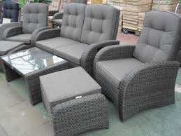 Sofa Buy Uk Reclining Rattan 4 Seater Sofa Set Grey Buy Garden Furniture