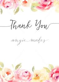 thank you flowers thank you note background with watercolor flowers angie makes